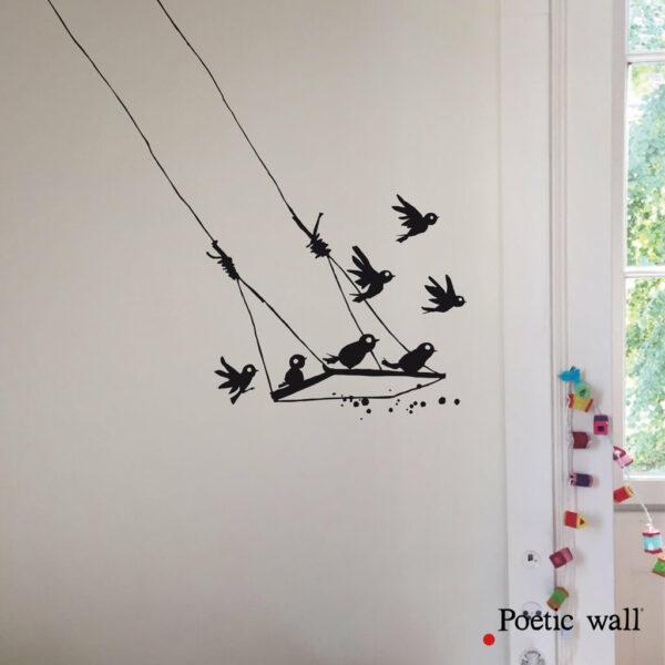 Stikers Poetic Wall Balancoire