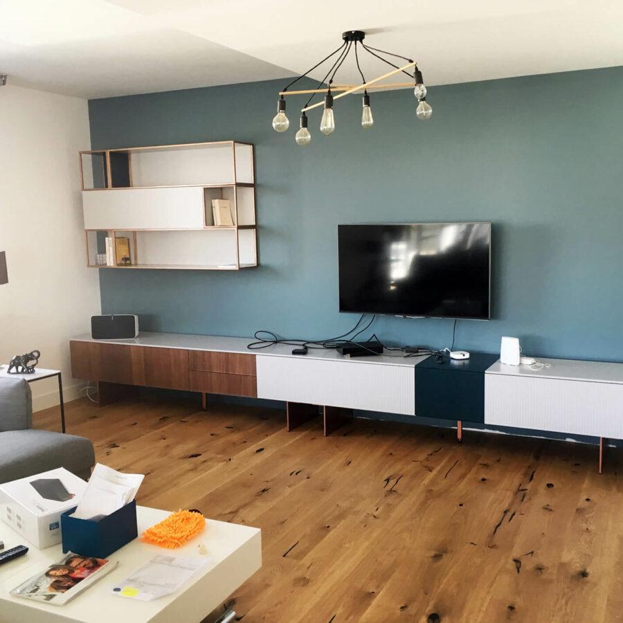 Création et installation d'un meuble TV / décoration de Novamobili